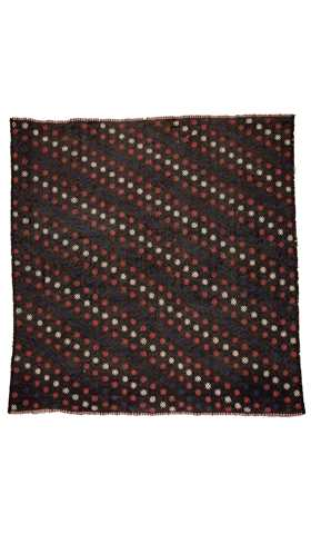 Black Vintage Turkish Kilim Rug - 180 cm x 188 cm