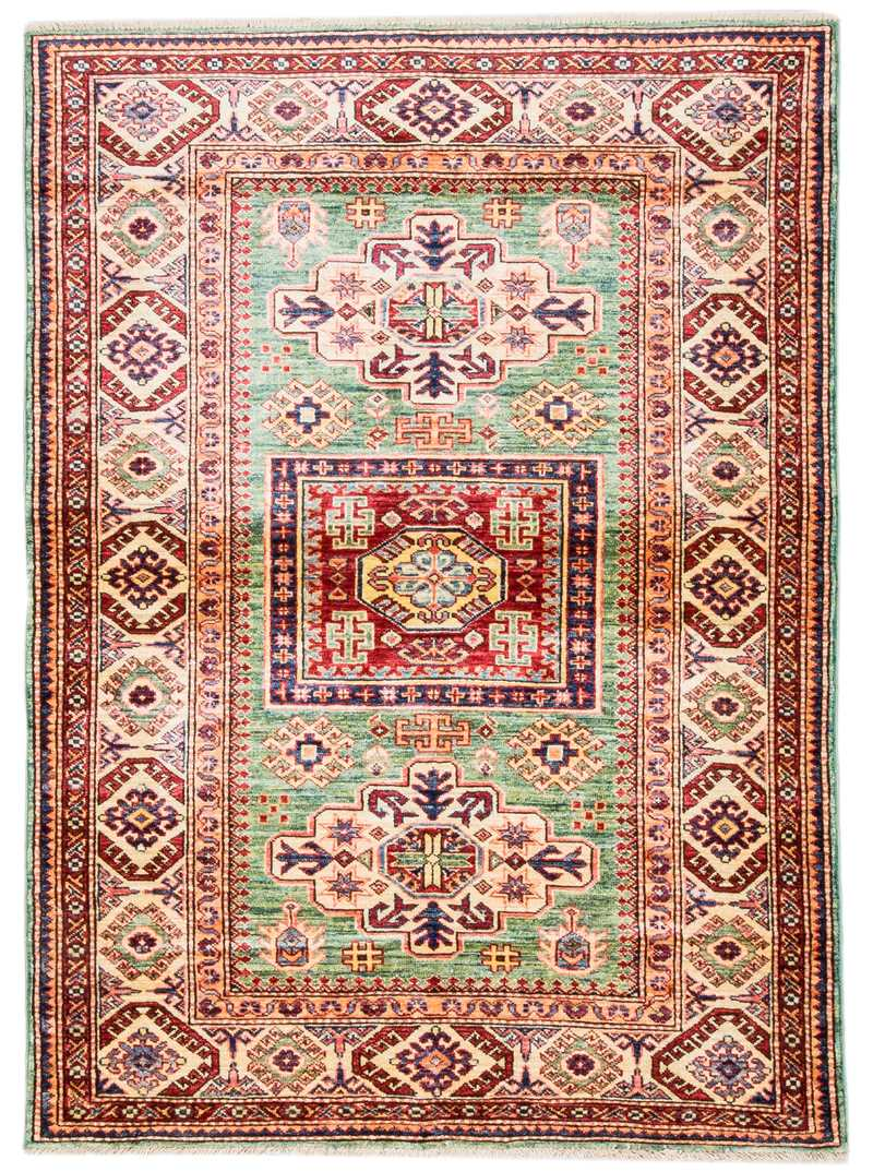 Caucasian Soft Green Color Rug-2919