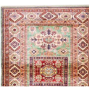 Caucasian Soft Green Color Rug-2919 detail 2
