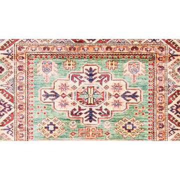 Caucasian Soft Green Color Rug-2919 detail 3