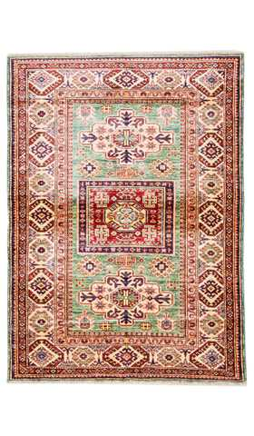 Caucasian Soft Green Color Rug