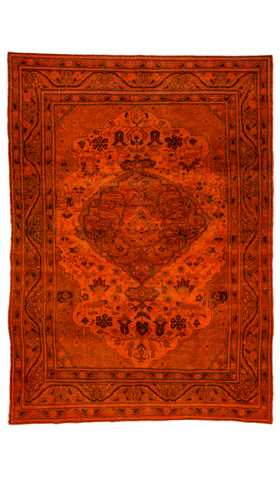 Overdyed Vintage Distressed Living Room Rug