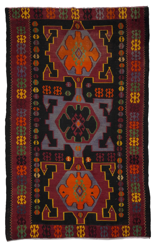 Vintage Dagestan Kilim Rug 4286