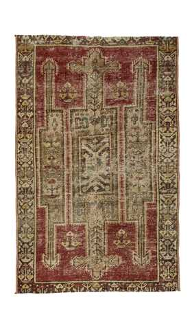 Antique Washed Turkish Rug