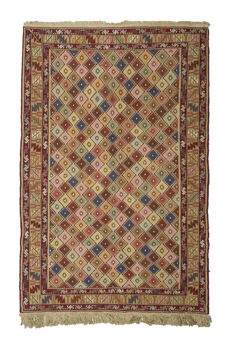 Multi Color Decorative Soumak Rug-5048