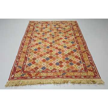 Multi Color Decorative Soumak Rug-5048 detail 1