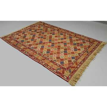 Multi Color Decorative Soumak Rug-5048 detail 2
