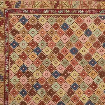 Multi Color Decorative Soumak Rug-5048 detail 3