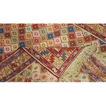 Multi Color Decorative Soumak Rug-5048 detail 4