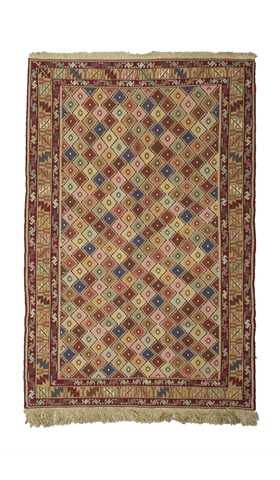 Multi Color Decorative Soumak Rug