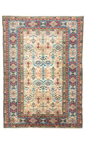Vintage Faded Bohemian Decor Rustic Rug