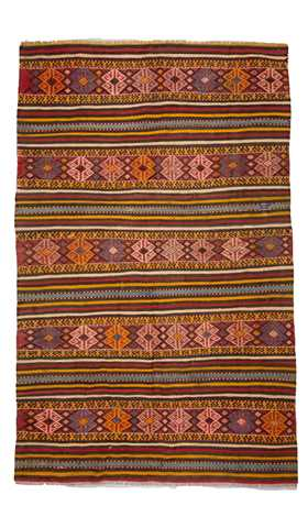 Vintage Soft Color Turkey Kilim