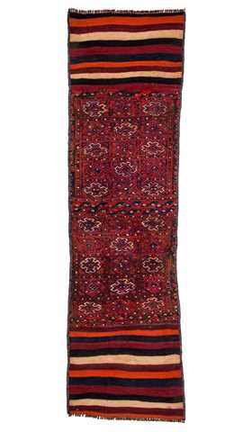 6327-Small Hand Embroidery Runner - 1' 8'' x 5' 11'' (51 cm x 180 cm)