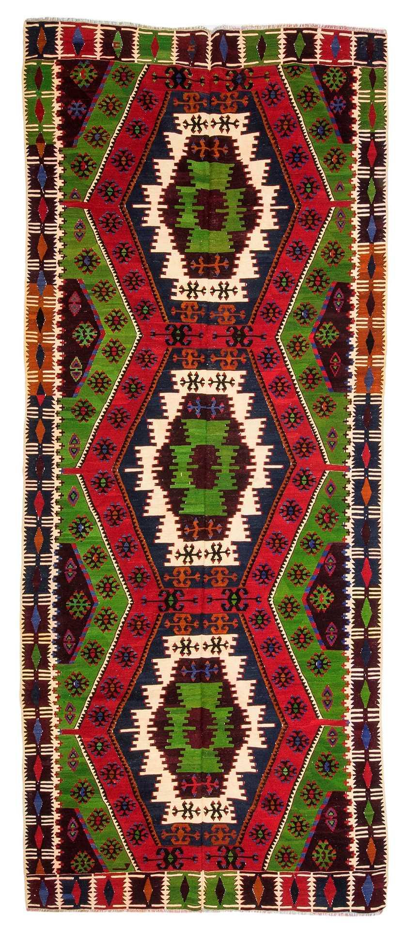 Vintage Turkish Kilim Rug 6980