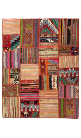 Patchwork Turkish Kilim Rug