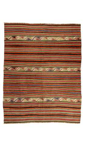 Konya Striped Cicim Turkish Kilim Rug